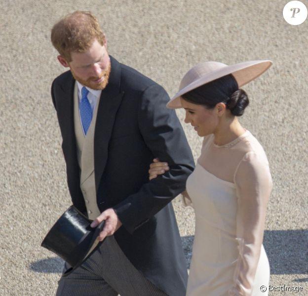 Le prince Harry, duc de Sussex et Meghan Markle, duchesse de Sussex lors de la garden party pour les 70 ans du prince Charles au palais de Buckingham à Londres le 22 mai 2018.