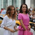 Sarah Jessica Parker et Kristin Davis sur le tournage de Sex and The City 2 à New York