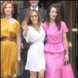 Sarah Jessica Parker, Cynthia Nixon, Kristin Davis et Kim Cattrall sur le tournage de Sex and The City 2 à New York