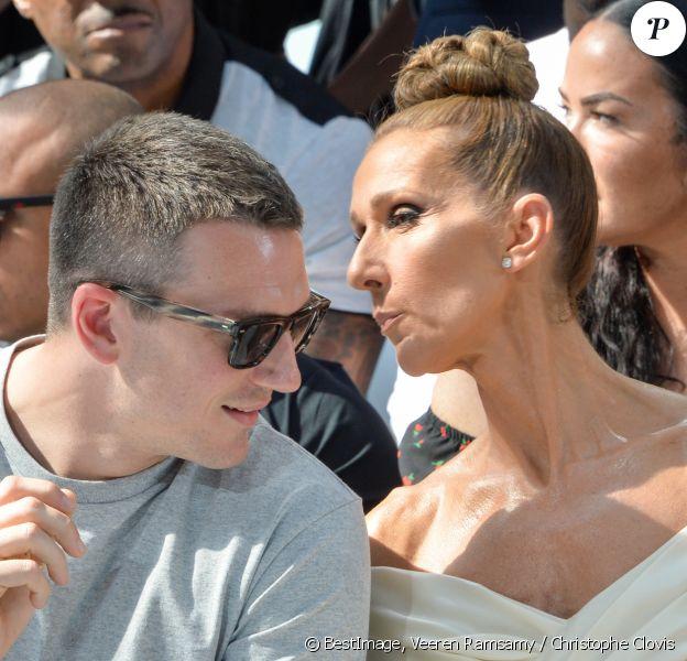 Céline Dion, Pepe Muñoz - Front row du Défilé de mode Haute-Couture Automne/Hiver 2019/2020 Alexandre Vauthier à Paris. Le 2 juillet 2019. © Veeren Ramsamy / Christophe Clovis / Bestimage