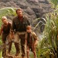 "Ariana Richards, Sam Neill et Joseph Mazzello, dans le film ""Jurrasic Park"" de Steven Spielberg. 1993. @Universal/courtesy Everett Collection/ABACAPRESS.COM"