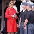 Maxima des Pays-Bas et Willem-Alexander des Pays-Bas visitent l'académie militaire de West Point, au nord de New York. 08/09/09