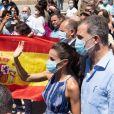 Le roi Felipe VI et la reine Letizia d'Espagne en visite à Séville, le 29 juin 2020.