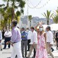 Le roi Felipe VI et la reine Letizia d'Espagne en visite à Benidorm, le 3 juillet 2020, pour faire le point sur la situation économique et sociale après l'épidémie de coronavirus (Covid-19).