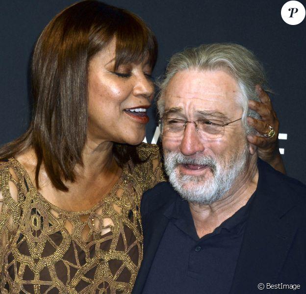 "Robert De Niro et sa femme Grace Hightower lors du dîner de gala 2017 IWC Schaffhausen ""For The Love Of Cinema"" lors du festival du film de Tribeca à New York, le 20 avril 2017. © Future-Image via ZUMA Press/Bestimage"