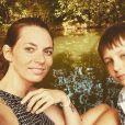 Davina Vigné avec son fils, le 27 mai 2020, sur Instagram