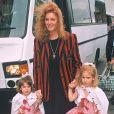 Sarah Ferguson et ses filles Beatrice et Eugenie en 1994.