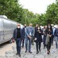 Exclusif - Arnaud Ngatcha, Yannis Chebbi, Anne Hidalgo, maire de Paris, Audrey Pulvar - Le concert de Paris 2020 pour la Fête Nationale à Paris, le 14 juillet 2020. © Veeren Ramsamy / Stephane Lemouton / Bestimage