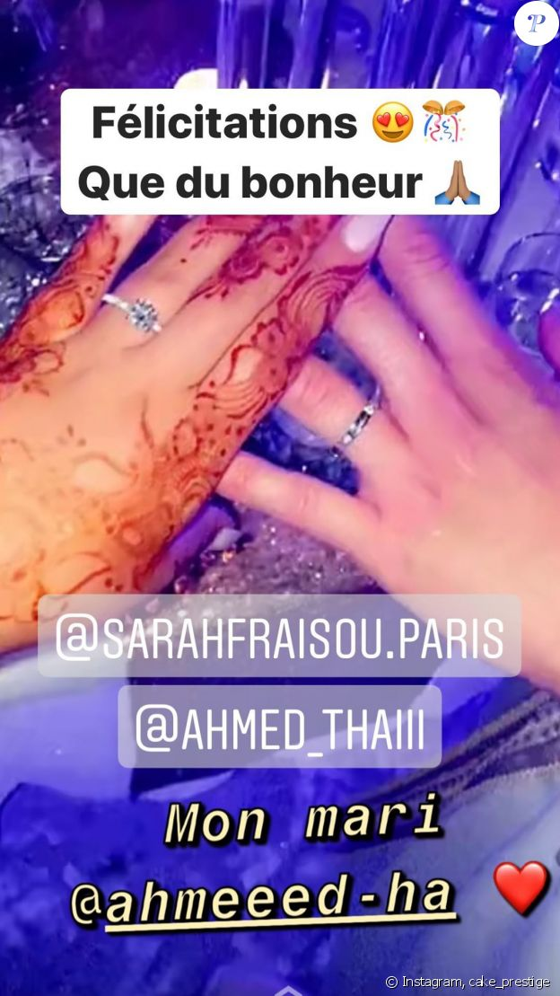 Le mariage de Sarah Fraisou et Ahmed, célébré le 24 juillet 2020.