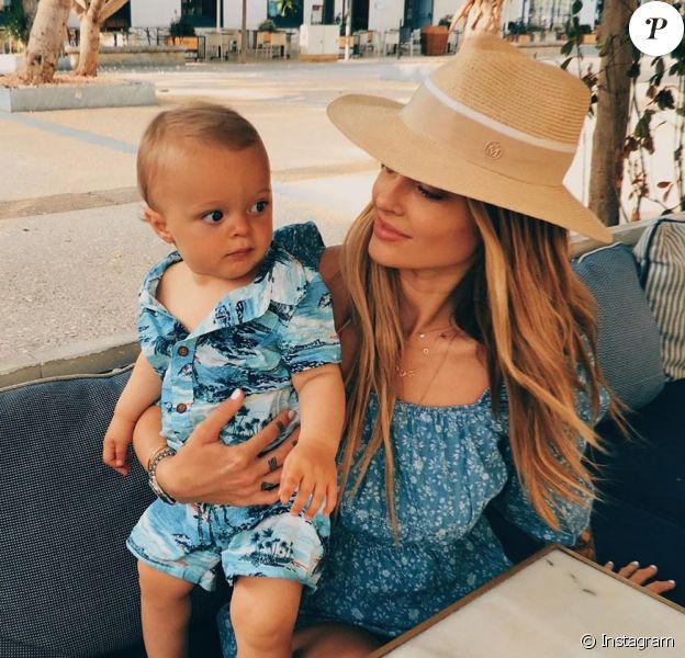 Caroline Receveur et son fils Marlon, le 4 avril 2020 sur Instagram.