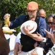 Vincent Cassel, Tina Kunakey et leur fille Amazonie, le 1er septembre 2019 à Venise.