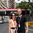 Valère Germain et sa femme Amandine lors du Grand Prix de Monaco en mai 2018. ©Bruno Bebert/Bestimage