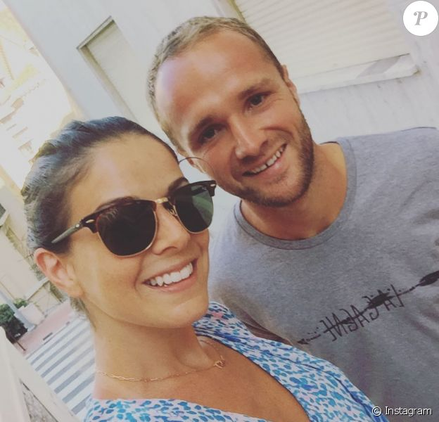 Valère Germain et sa femme Amandine, photo Instagram été 2016