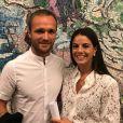 Valère Germain et sa femme Amandine en octobre 2017, photo Instagram