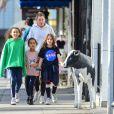 Ellen Pompeo et ses enfants, le 18 janvier 2020 à Los Angeles.
