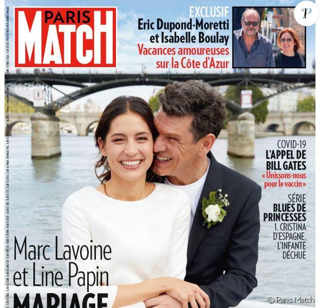 Marc Lavoine Et Line Papin Trois Demandes En Mariage La Ceremonie En Details Purepeople