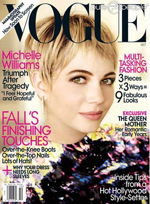 Michelle Williams en couverture de l'édition américaine de Vogue, octobre 2009