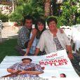 bernard Montiel, Maïté, Camille Casabianca à Saint Tropez le 10 juillet 1995