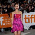 Natalie Portman dans un look surprenant, à l'occasion de la présentation de  Love and other impossible pursuits , lors du 34e Festival International du Film de Toronto, le 16 septembre 2009 !