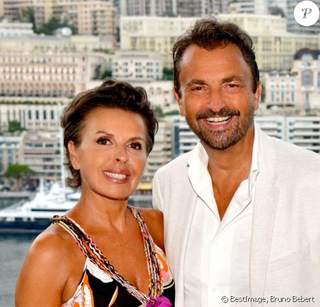 Exclusif - Henri Leconte, parrain de l'association, et sa compagne Maria Dowlatshahi durant le diner Enfant Star et Match à Monaco, organisé au Clos Bouliste du Rocher © Bruno Bebert / Bestimage