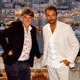Exclusif - Tex et Henri Leconte, parrain de l'association, durant le diner Enfant Star et Match à Monaco le 22 août 2020, organisé au Clos Bouliste du Rocher. © Bruno Bebert / Bestimage