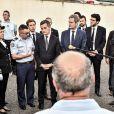 Gérald Darmanin, ministre de l'Intérieur, est en visite à la caserne de gendarmerie de Port-Sainte-Marie, commune où Mélanie Lemée, gendarme, a été tuée par un chauffard. C'est le premier déplacement de Gérald Darmanin en tant que ministre de l'Intérieur. Le 7 juillet 2020. © Thierry Breton / Panoramic / Bestimage