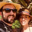 David Mora et sa chérie Davina Vigné, en vacances. Instagram, août 2020