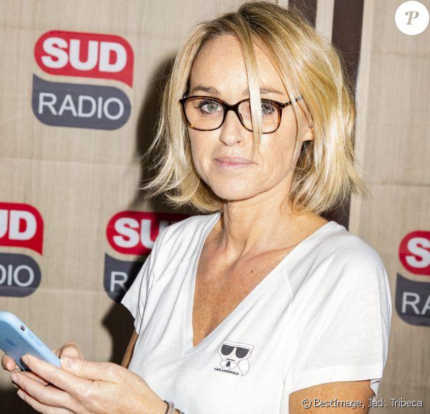 Exclusif - Cécile de Ménibus lors de la 500ème de l'émission Média 10h/ 12h de Valérie Expert sur Sud Radio à Paris. ©Jack Tribeca/Bestimage