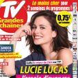 """Lucie Lucas en couverture du magazine """"TV Grandes Chaînes"""" paru mercredi 2 septembre 2020"""