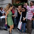 Sarah Jessica Parker sur le tournage de Sex and the City 2. 18/09/09