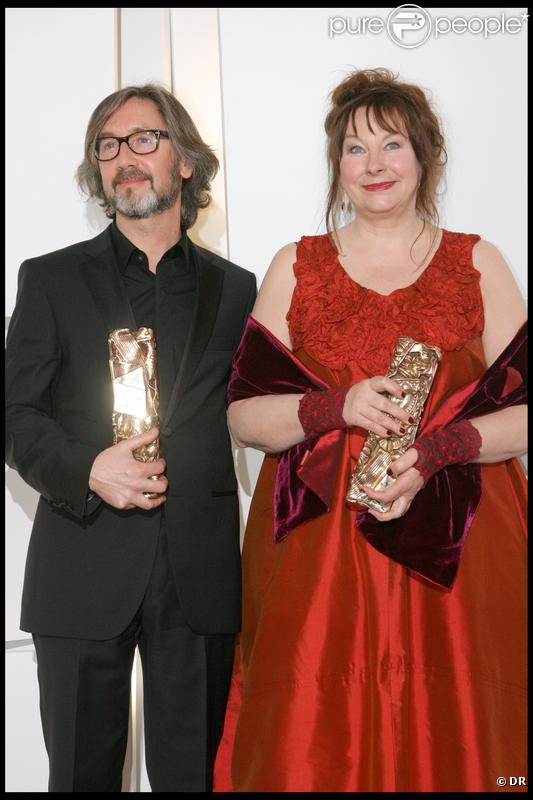 Martin Provost et Yolande Moreau, lauréats de César pour Séraphine en février 2009