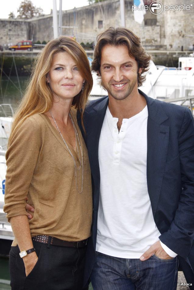 Gwendoline Hamon et Frédéric Diefenthal lors du festival de la fiction télévisée de La Rochelle le 20 septembre 2009