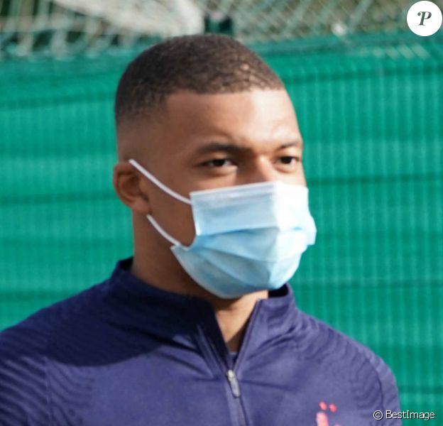 Kylian Mbappe - Entraînement de l'équipe de France de football à Clairefontaine, le 31 août 2020.