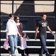 Katie Holmes, sa fille Suri, Isabella et Conor  à Boston (20 septembre 2009)