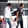 Katie Holmes et sa fille Suri, et Conor à Boston (20 septembre 2009)