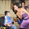 Eva Longoria et la petite Audrey lors du premier Par Coeur Gala, le 21 septembre 2009 à l'hôtel Meurice.