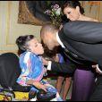 Eva Longoria et Tony Parker ont organisé le premier Par Coeur Gala pour faire rêver des enfants comme Audrey, le 21 septembre 2009 à l'hôtel Meurice.