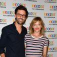 Thomas Isle et Maya Lauqué lors du photocall de la présentation de la nouvelle dynamique 2017-2018 de France Télévisions. Paris, le 5 juillet 2017. © Guirec Coadic/Bestimage