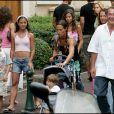 Jean-Pierre Pernaut et sa femme Nathalie Marquay passent leurs vacances à Saint Tropez avec leurs enfants