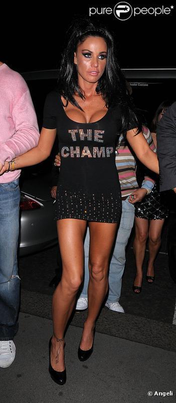 Katie Price en compagnie de son nouveau boyfriend Alex Reid le 20 septembre 2009