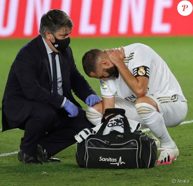 Karim Benzema lors du match Real Madrid - Deportivo Alaves à Madrid.