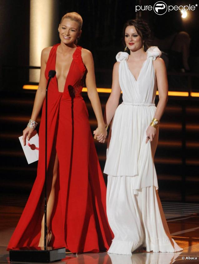 Leighton Meester et Blake Lively aux Emmy Awards 2009, le 20 septembre à Los Angeles.