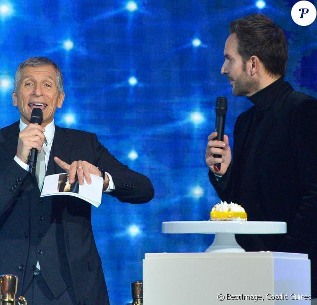 Nagui et Christophe Michalak - 30ème édition du Téléthon 2016 (AFMTéléthon) à l'hippodrome de Longchamp à Paris, France. © Coadic Guirec/Bestimage