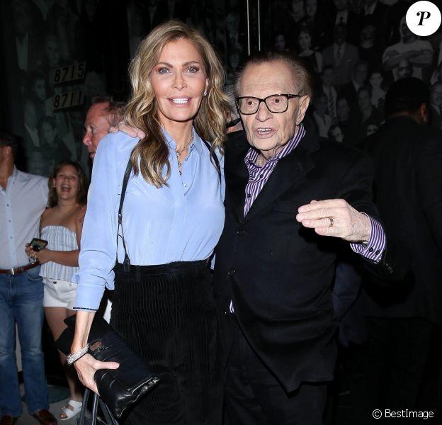 Exclusif - Larry King et sa femme Shawn - Larry King célèbre son anniversaire , 85 ans, au Catch à Los Angeles.