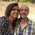 """Laurent, agriculteur de """"L'amour est dans le pré"""" saison 14, au côté de Karine Le Marchand."""