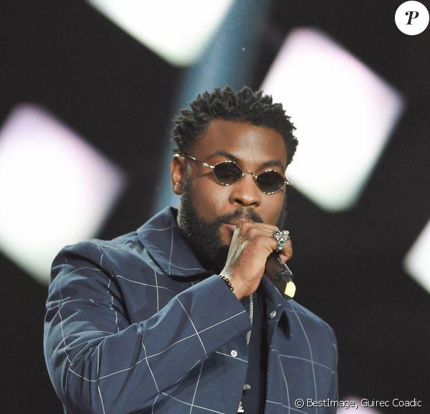 Damso (Album rap : Lithopédion) lors de la cérémonie des 34e Victoires de la Musique à la Seine Musicale, Boulogne Billancourt. © Coadic Guirec / Bestimage