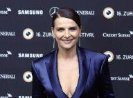 Juliette Binoche très décolletée, elle fait sensation au Festival de Zurich