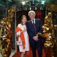 Nelson Monfort et sa femme Dominique durant la Soirée du Rolex Monte Carlo Masters 2019 au Sporting à Monaco le 19 avril 2019. © Bruno Bebert / Bestimage