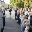 Brigitte Macron et Andra Levite, promenade à Riga, le 30 septembre 2020. © Eliot Blondet / Pool / Bestimage