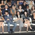 Roberta Armani, Maria Grazia Cucinotta, Vittorio Brumotti, Janet Jackson, Ziyi Zhang et Iseoshi Nakata au défilé Giorgio Armani lors de la Fashion Week italienne à Milan le 24 septembre 2009